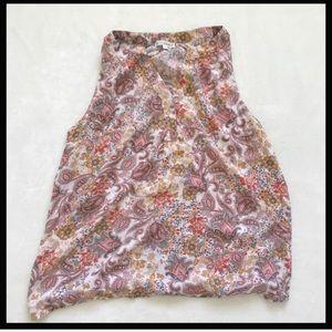 ARTISAN NY |  paisley sleeveless blouse Size L